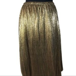 Gold/Silver stretch skirt size 2X